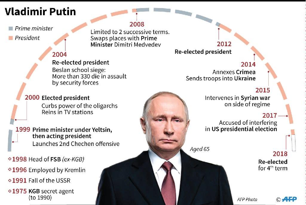 Profile of Russian President Vladimir Putin (AFP Photo/Vincent LEFAI)