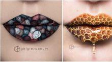Unglaublich detailgetreu: Diese Lippen sind echte Kunstwerke