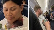Mum who gave birth mid-air had 'no idea' she was pregnant