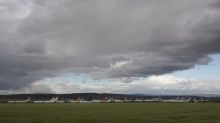 The planes in Spain parked neatly on the plain