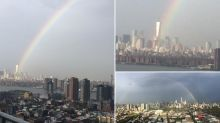 Rainbow cast over World Trade Center ahead of 9/11 anniversary