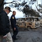Trump surveys wildfire damage in California