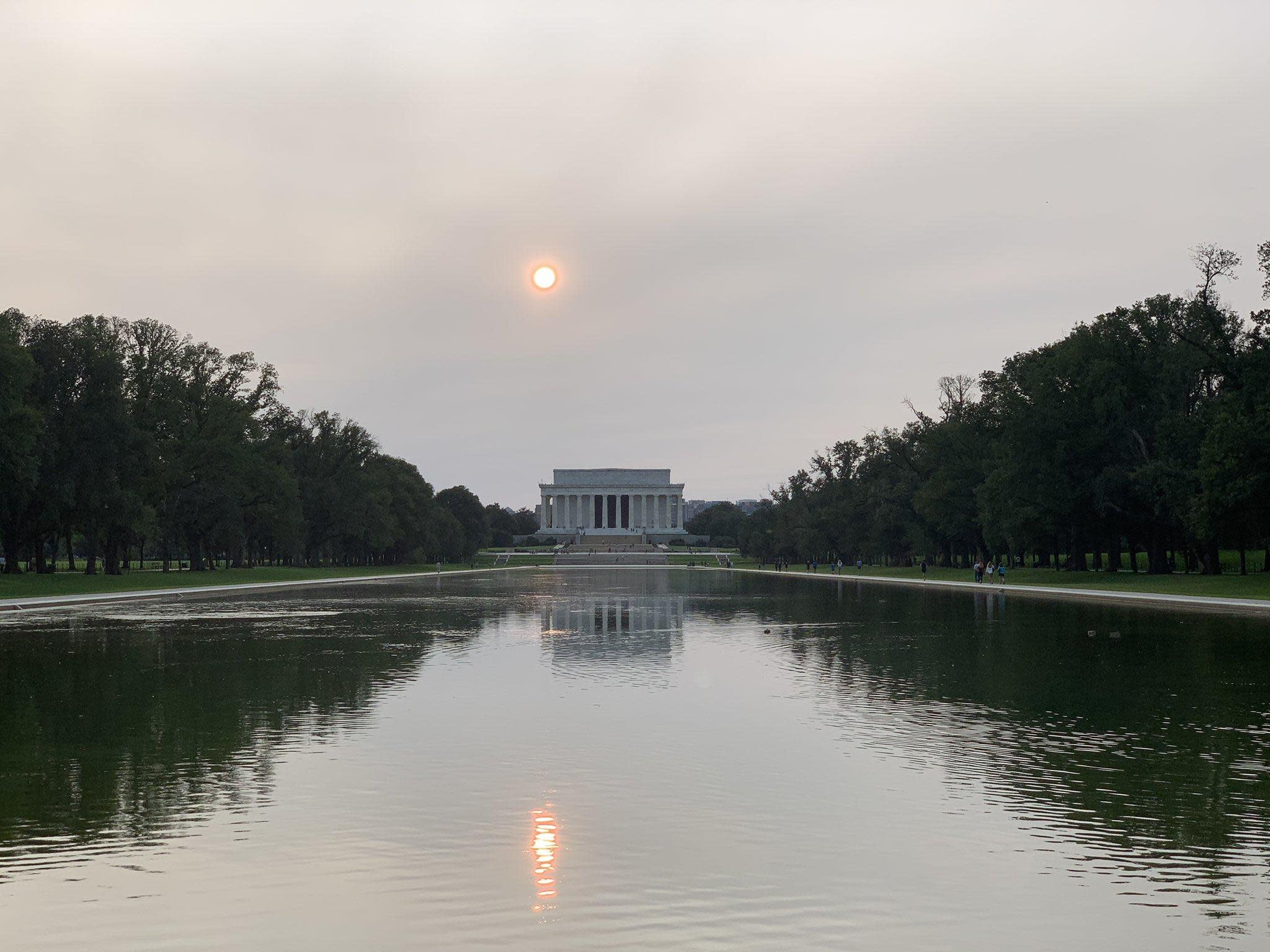 Wildfire smoke from West has spread to Washington, D.C.