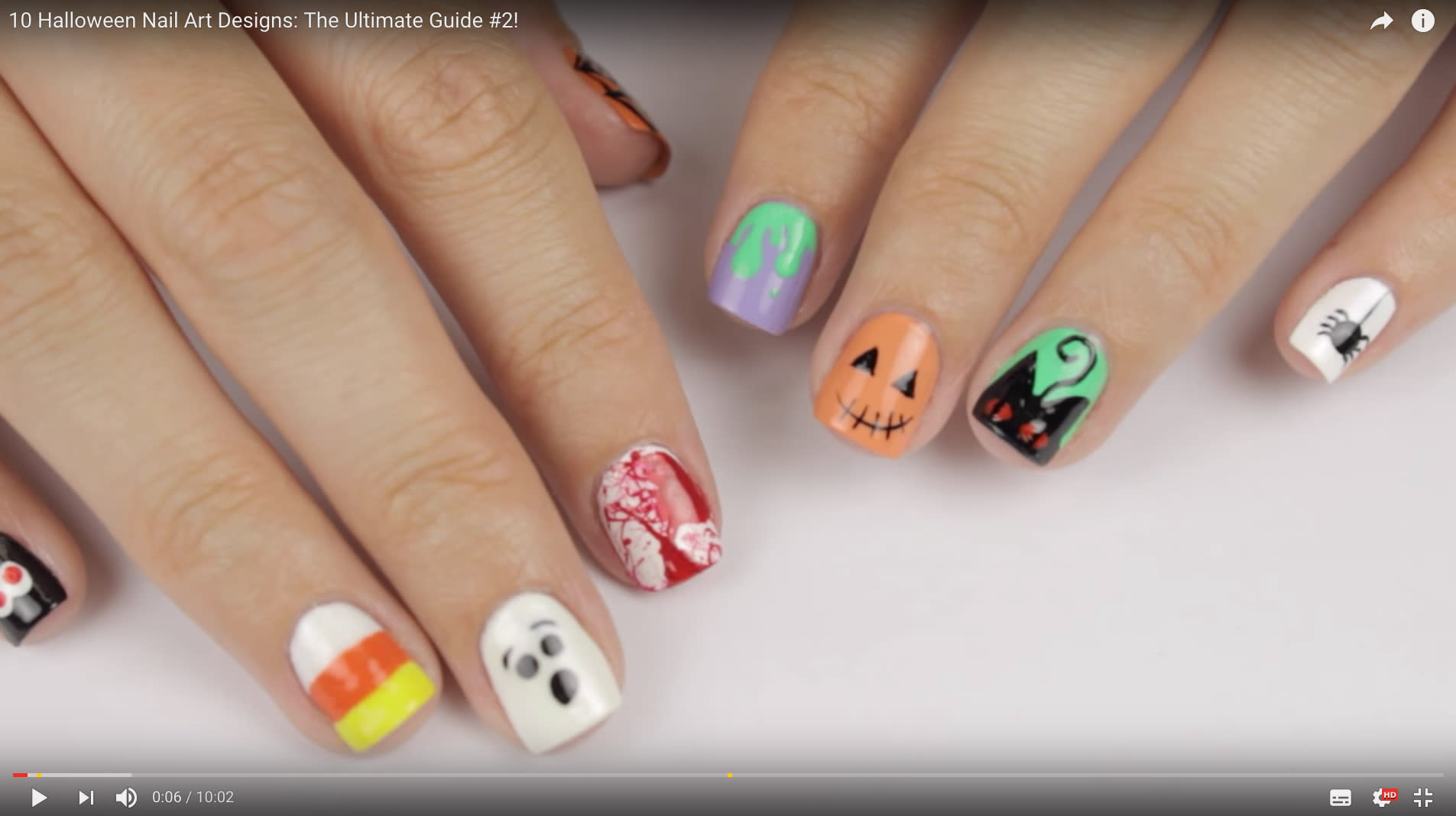 manicure ideas for a stylish halloween