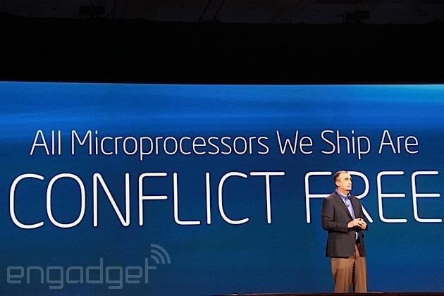 All Intel microprocessors shipped in 2014 will be conflict-mineral-free