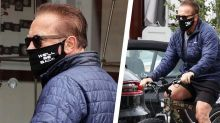 Arnold Schwarzenegger Wore a 'Terminator'-Inspired Face Mask While on a Bike Ride