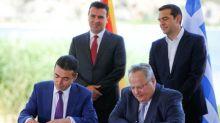 Greece, Macedonia sign pact to change ex-Yugoslav republic's name