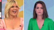 Studio 10's Sarah Harris left red-faced over Natasha Exelby's jab