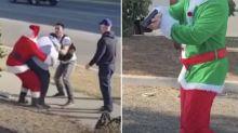 'Santa' stops carjacking at shopping centre