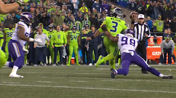 Russell Wilson throws brutal INT in red zone
