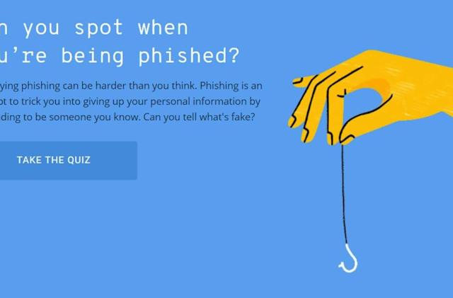 Alphabet made a quiz to help you detect phishing scams