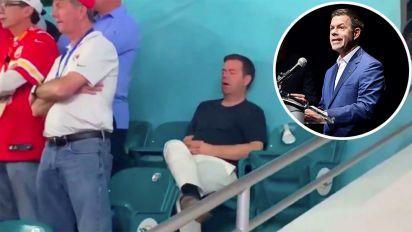 Super Bowl's viral sleeping fan named and shamed