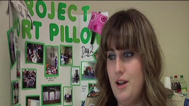 Girl Scout offers comfort to cancer patients