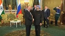Russian and Indian leaders meet in Moscow