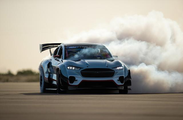 Watch the drifting power of Ford's 1,400 horsepower Mustang Mach-E