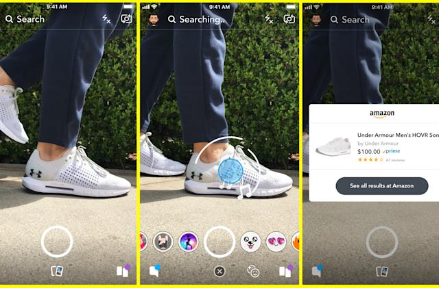 Snapchat will let you shop on Amazon using its camera