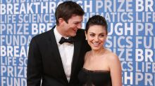 Ashton Kutcher and Mila Kunis Joke About Their Relationship Ending to Mock Tabloid Report Claiming They Split
