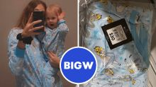 Big W's matching mum and bub pyjamas flying off shelves