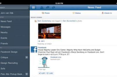Facebook for iPad out now