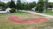 Dad spends $30K on backyard baseball field for 5-year-old son