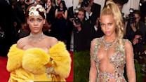 Rihanna vs Beyonce Gowns at Met Gala 2015