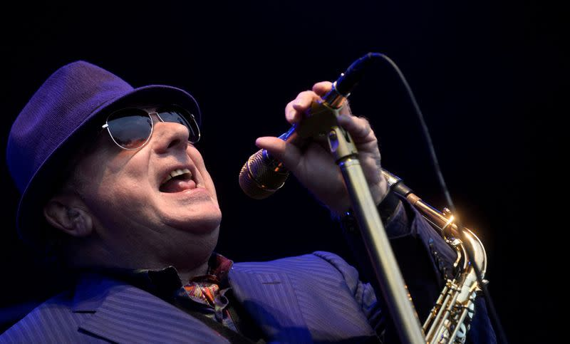 FILE PHOTO: FILE PHOTO: Northern Irish musician Van Morrison performs at the BBK Music Legends festival in Sondika, near Bilbao