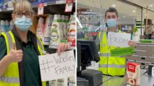 Woolworths workers' heartfelt TikTok video praised: 'I'm crying'