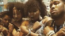 'Black Panther' filmgoers show off their best Wakanda-inspired looks