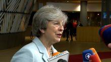 British PM talks trade, security at EU summit