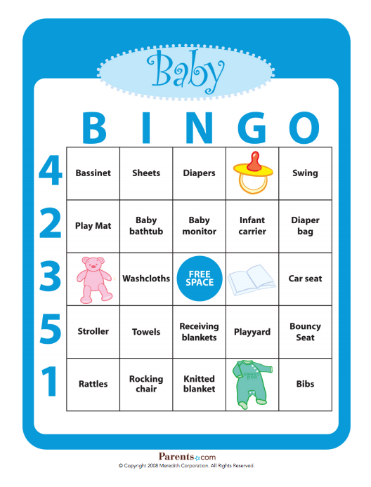 image regarding Free Printable Baby Shower Bingo Cards for 30 People known as 4 Free of charge Printable Kid Shower Online games