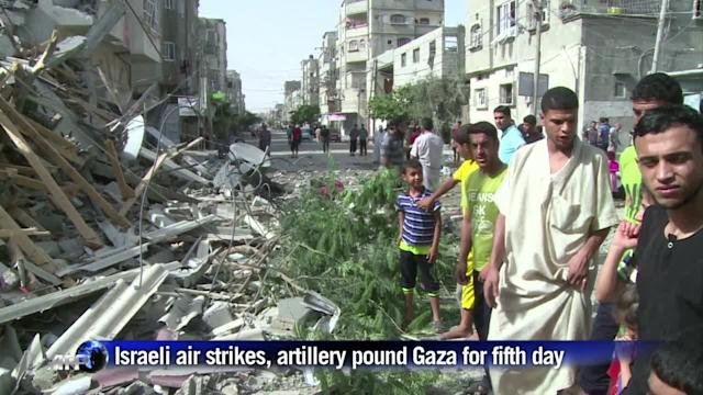 Israel pounds Gaza for a fifth day