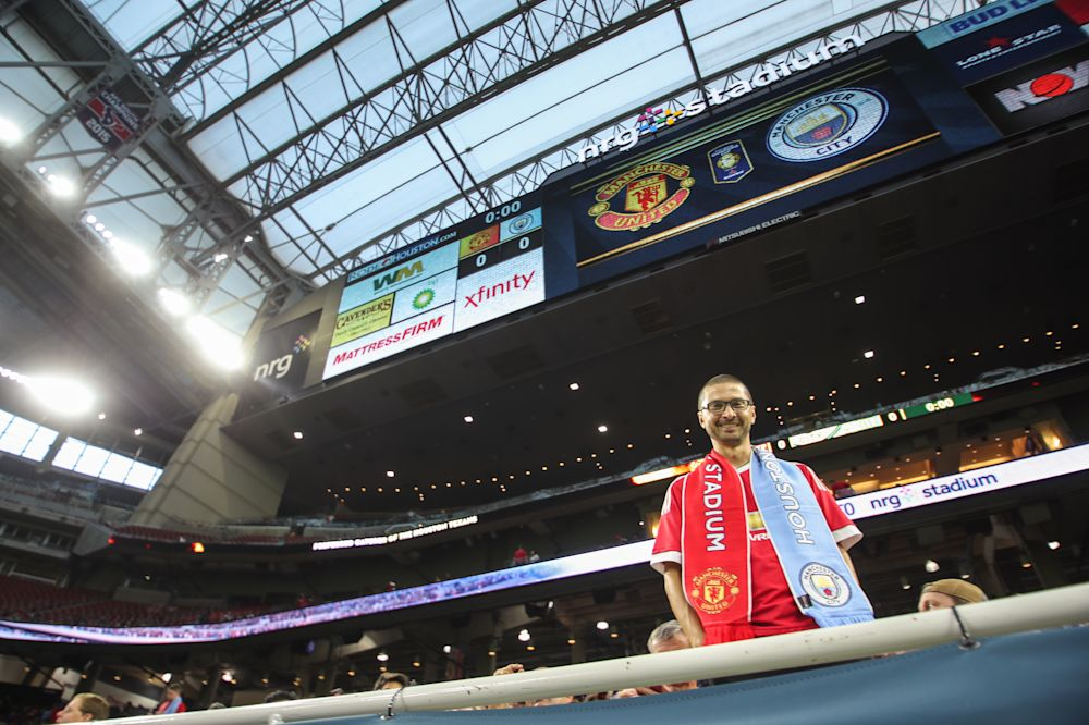 About 67,000 fans turned out in Houston to watch English Premier League teams Manchester City and Manchester United play in July. (Getty Images)