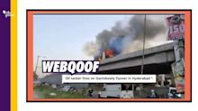 Video of Truck Catching Fire in Pune Viral as Hyderabad Flyover's