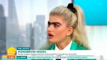 Model receives death threats for choosing to leave monobrow unplucked
