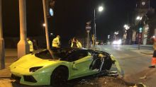 Driver of £260k Lamborghini walks away from crash with bus unscathed