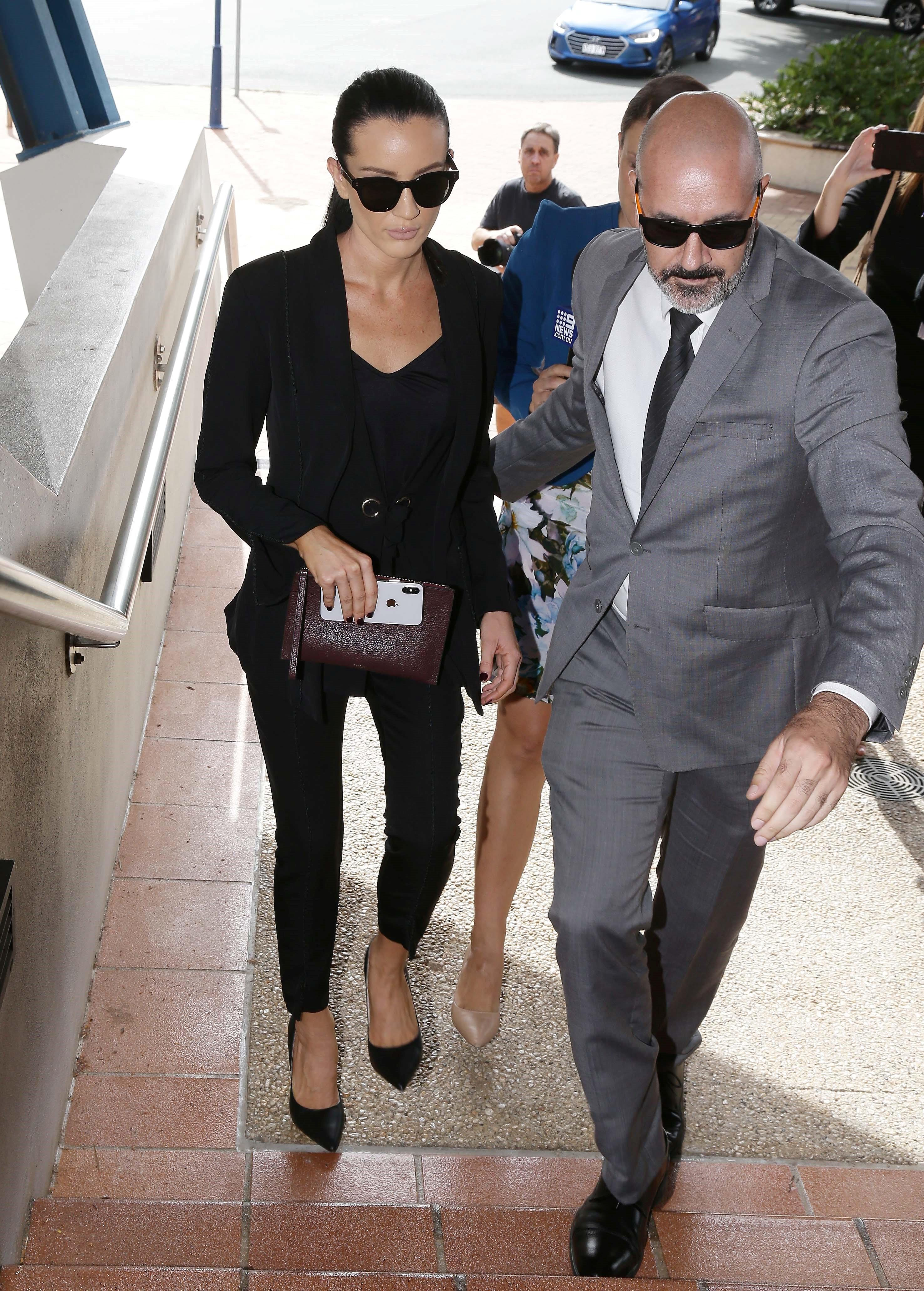 MAFS star Ines arrives at court with bodyguard