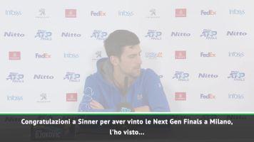"""Djokovic: """"Sinner è la nuova stella del tennis"""""""