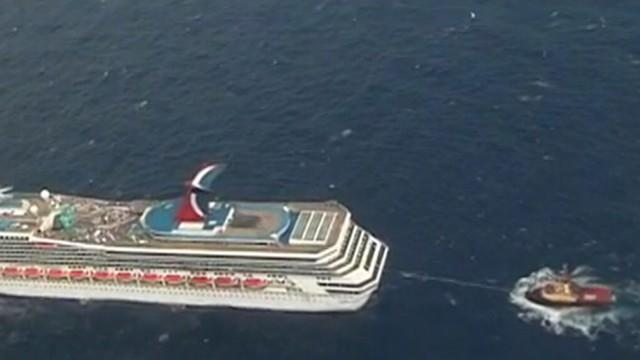 Stranded Cruise Ship On Its Way to Port