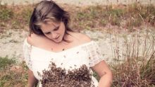 Mum's surreal bee maternity shoot is the most hair-raising pregnancy celebration you've seen
