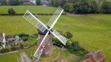 Woman renovates windmill in her garden