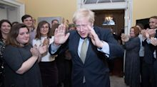 Theresa May can't bring herself to thank Boris Johnson during election victory speech