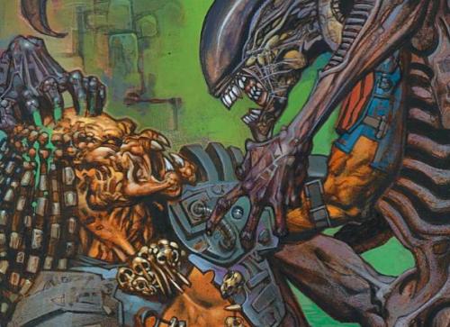 Aliens vs. Predator comic.