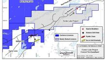 Canterra Minerals Stakes the Carter Lake Property In Central Newfoundland