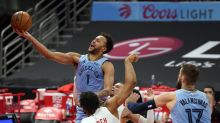 Valanciunas has double-double, Grizzlies beat Raptors 109-99