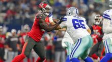 Cowboys tackle Mitch Hyatt carted off after knee injury