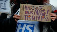 Donald Trump Protest: Doctors And Nurses Tell President 'Hands Off Our NHS'