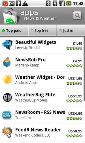 Rogers, Telus both offering paid Android Market apps