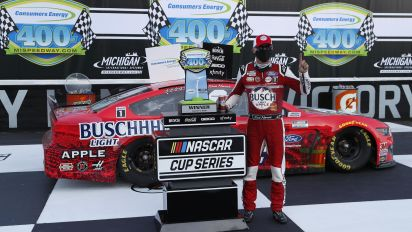 Kevin Harvick goes back-to-back at Michigan