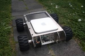 The Mobile Mac mini robot gets it some wheels