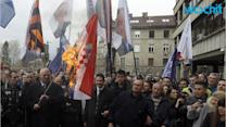 Released Serbian Nationalist Flaunts Freedom, Burning Croatian Flag
